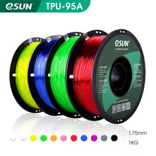 eSUN Flexible TPU Filament 1.75mm,TPU 95A 3D Printer Filament 1KG 2.2 LBS Spool 3D Printing Material for 3D Printers and 3D Pen