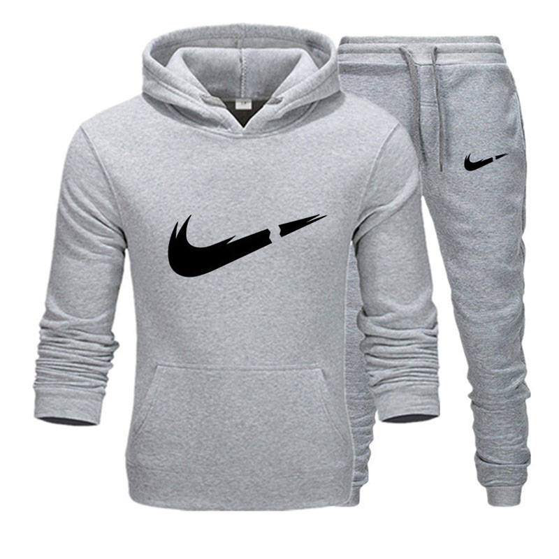 Autumn Brand Tracksuit Men Thermal Men Sportswear Sets Fleece Thick Hoodie+Pants Sporting Suit Casual Sweatshirts Sport Suit