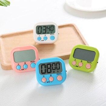 Nowy czasomierz kuchenny LCD cyfrowa kuchenna odliczanie i liczyć się timer zegar z magnetycznym podkładem stojak dla jaj minutnik kuchenny