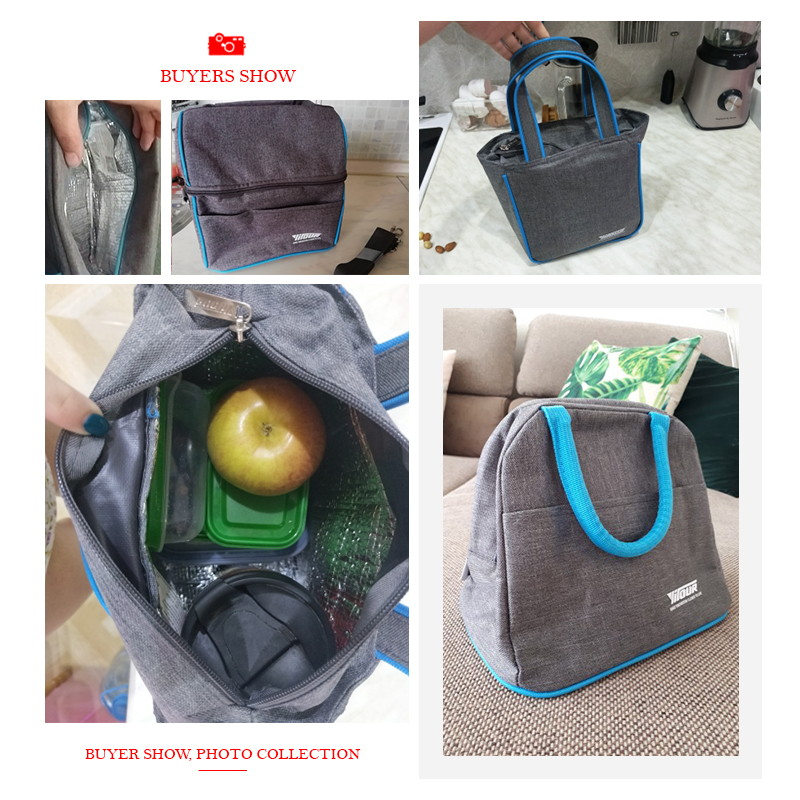 Thermal Insulation Cooler Lunch Bag Picnic Bento Box Fresh Keeping Ice Pack Food Fruit Container Storage Accessories Supply