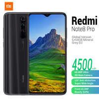 En Stock Version Globale Xiaomi Redmi Note 8 Pro MIUI 10 Helio G90T Octa Core 6 GO 128 GO 6.53» 5 caméras 4500mAH Mobile Téléphones Portables