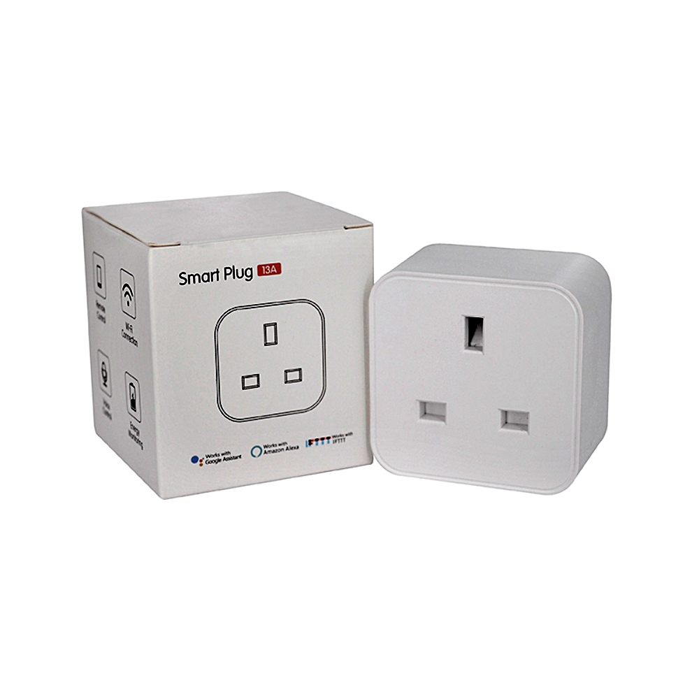 Hb3e13fe598e34de8b1fb3b9c9abd895dm - UK WiFi Switch Mini Socket Plug Wireless Extender Remote Outlet Adaptor Wattmeter Smart Home Automation Alexa Google Compatible