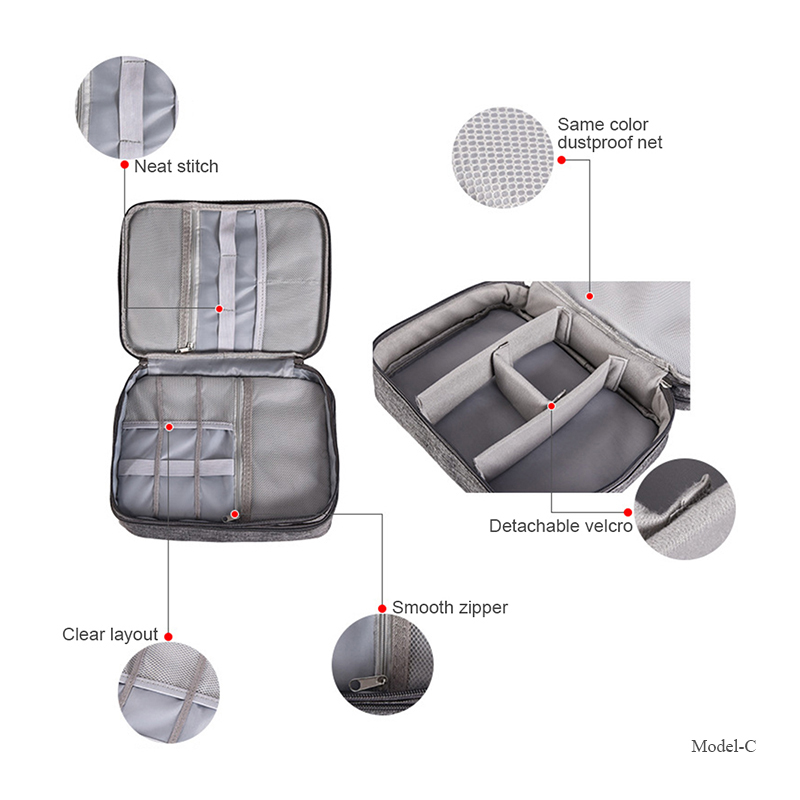 Cable Organizer Bag Electronic Storage Bag Gadget Organizer Charger Cable Wires Headphone Case Travel Digital Accessories Pouch 4