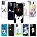 Чехол для телефона Bull Terrier Dog Puppies для Apple iPhone 7 8 Plus 11 12 Mini Pro 10 X XS XR 6 6S 5 5S SE Max мягкий прозрачный силикон