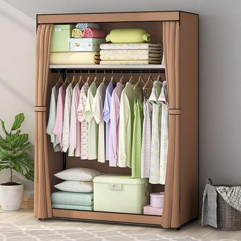 Modern Non-woven Cloth Wardrobe Dustproof Storage Cabinet with Drawer Bedroom Furniture