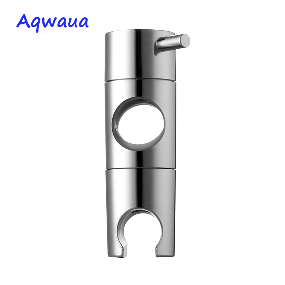 Aqwaua Hand Held Shower Head Holder for 19-25mm Slider Bar Height  amp  Angle Adjustable Sprayer Holder Shower Rod Replacement