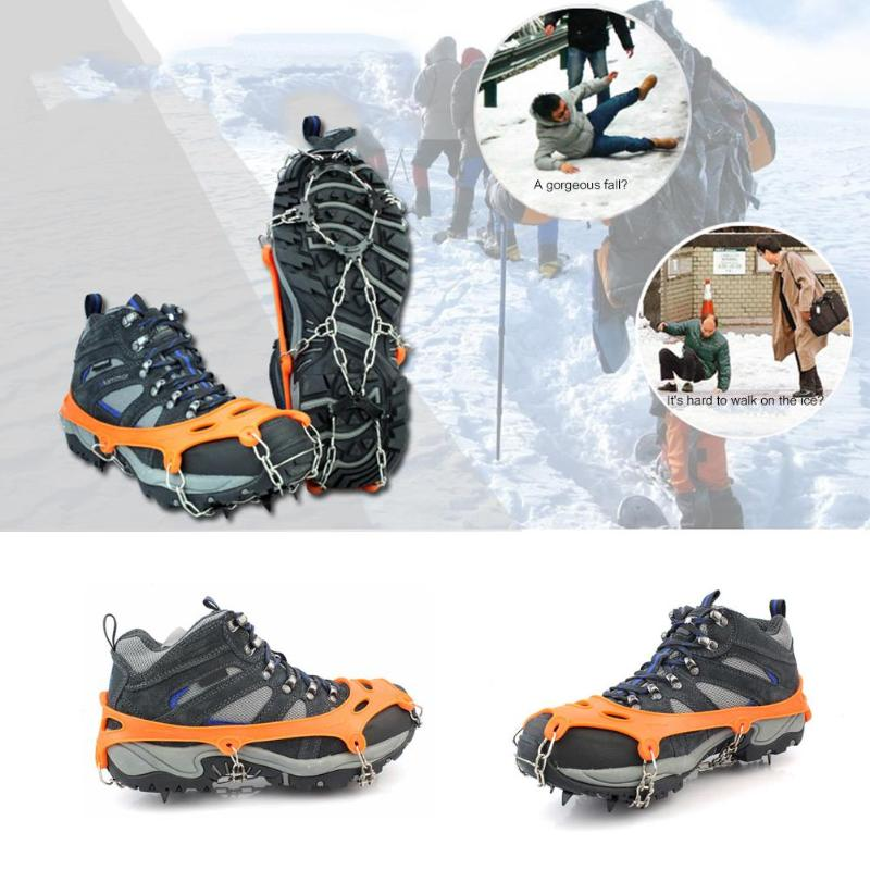 Durable 1 Pair X Ice Claw Delicate Design Outdoor Ice Snow 8 Teeth Shoe Spiked Grip Cleat Crampons Anti Slip Shoe Covers