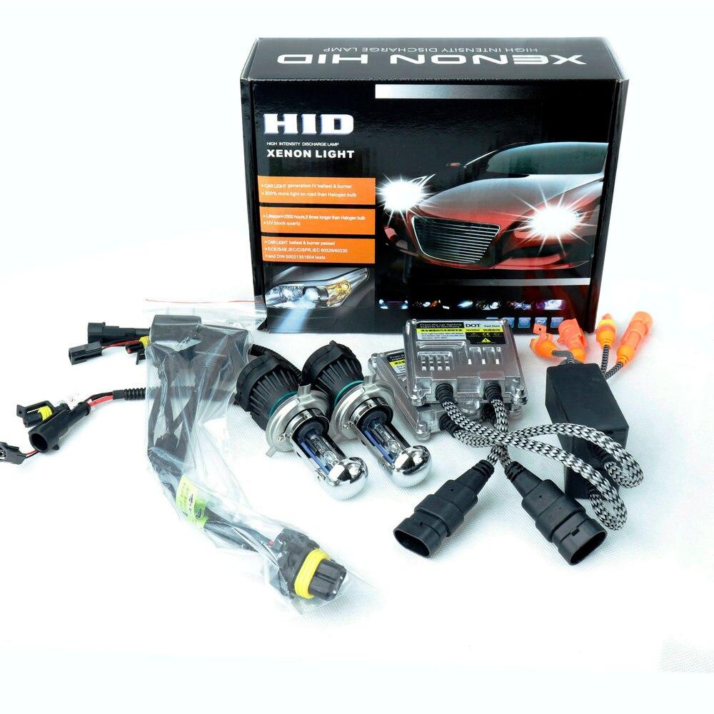 55 W Fast Start 12 V H4 Hi/Low H4 Bi Xenon Hid H1H3H7H119005/9006 Auto Faro Allo Xeno kit Lampada