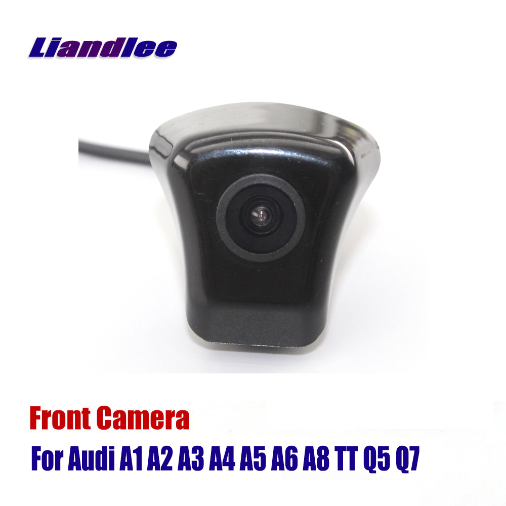 Liandlee HD Night Vision Front View <font><b>Camera</b></font> For <font><b>Audi</b></font> Forward Logo <font><b>Camera</b></font> As For <font><b>Audi</b></font> A1 A3 A4 A5 A6 A7 <font><b>Q3</b></font> Q5 Q7 TT Front <font><b>Camera</b></font> image