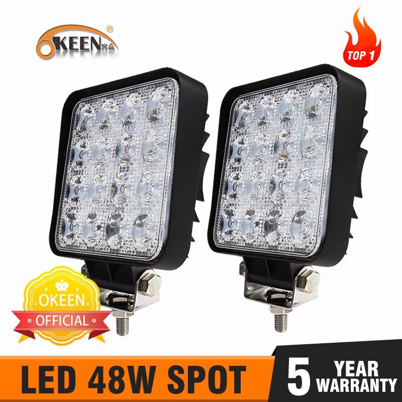 2pcs HIGH POWER 12V 24V LED WORK LAMPS FLOOD LIGHTS TRUCK CAR 4X4 TRAILER CAMPER