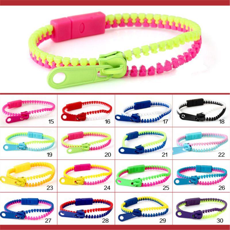 12pcs Friendship Fidget Zipper Bracelets 7.5 Inches Sensory Toys Bulk Set
