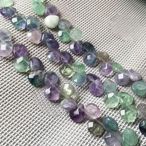 Natural stone Faceted Water drop shape loose beads Fluorite Crystal string bead For jewelry making DIY bracelet necklace