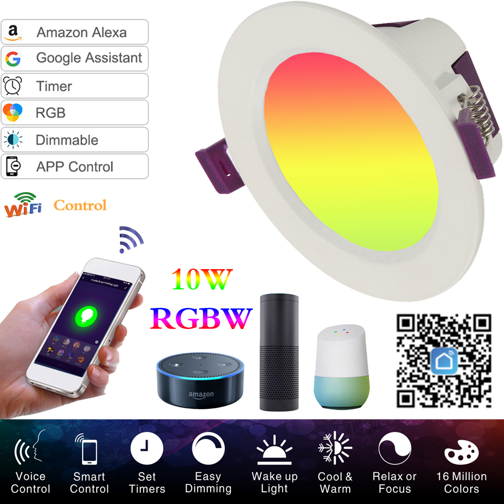 LED Downlight Spotlight Ceiling Lights 7W APP Control Work With Amzon Alexa & Google Home Smart WIFI LED Spot Lighting