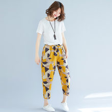Access Photo Shoot 2019 Summer New Style Ethnic Literature And Art Cotton Linen Capri Loose-Fit WOMEN'S Casual Trousers dispense