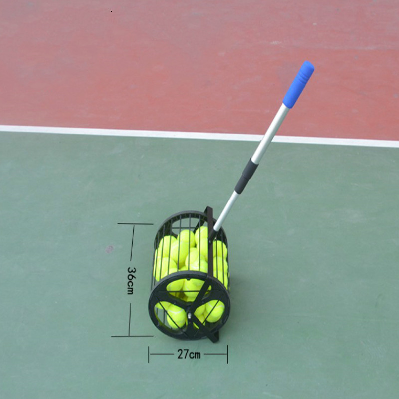 Height Adjustable Tennis Balls Retriever 55 Capacity Basket Stainless Steel Tennis Ball Pick Up Hopper Picking MachineTennis