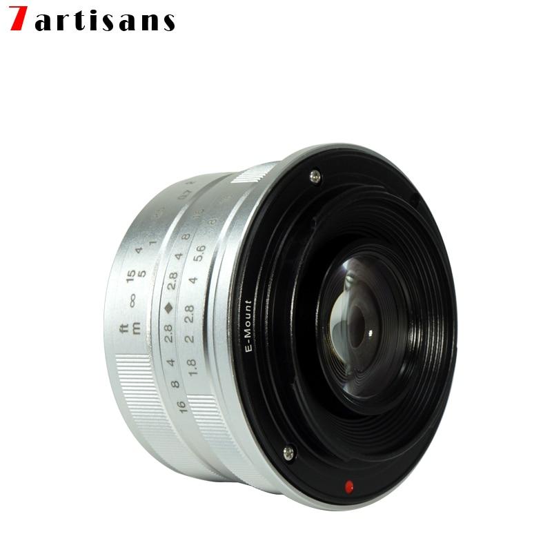 7artisans 25mm f1.8 objectif principal à toutes les séries simples pour E Mount Canon EOS-M Mout Micro 4/3 caméras A7 A7II A7R livraison gratuite - 6