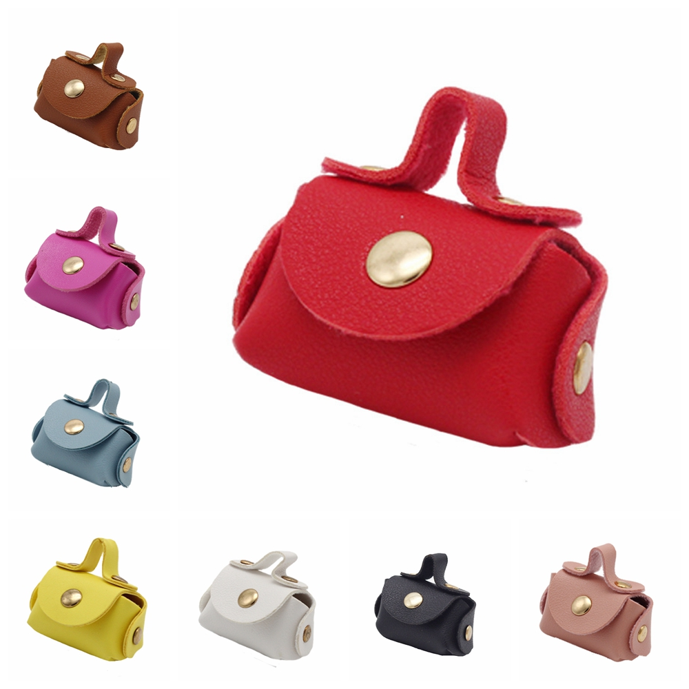 New Arrival 8 Color Fashion Leather Small Hangbag Fit 1/6 <font><b>Bjd</b></font> <font><b>Doll</b></font> <font><b>Dress</b></font> Up Accessories Toys Gift For 11.5 inch - 12 inch <font><b>doll</b></font> image