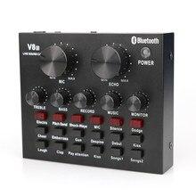 Profession carte son externe Interface Audio pour ordinateur téléphone Microphone karaoké Live DJ Console de mixage son changeur de voix