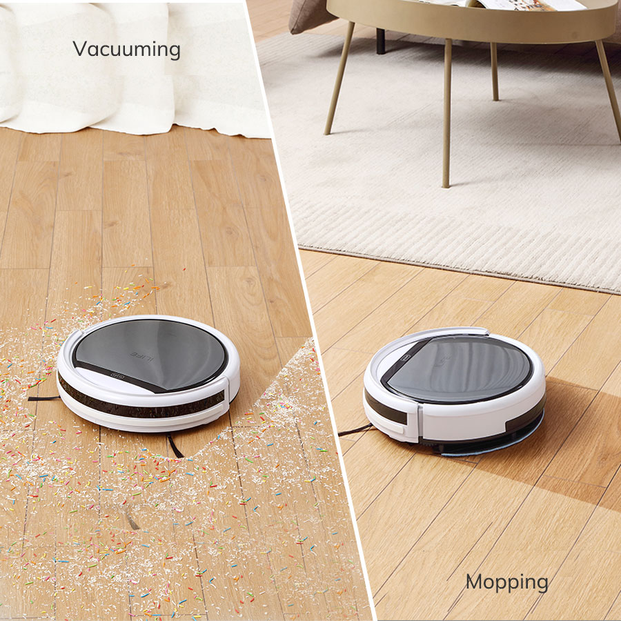 ILIFE V60 Pro Robot Vacuum Cleaner Sweep Wet Mopping Cleaning  Hard Floor automatic Powerful Suction Ultra Thin disinfection 6