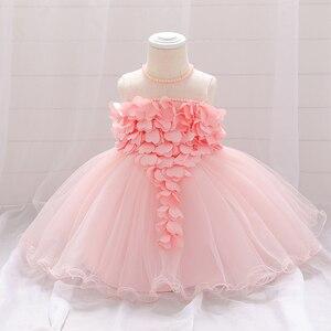 2020 bebê menina verão rendas coração branco vestidos de bebê meninas vestido de princesa batismo roupas vestido de aniversário recém-nascido para a menina do bebê
