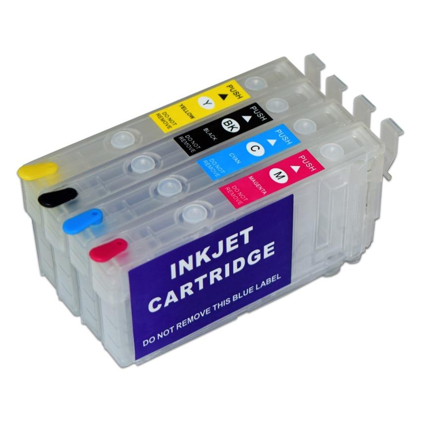 T802 T802XL Refillable Ink Cartridge Without Chip For Epson Workforce WF-4720 WF-4730 WF-4734 WF-4740 EC-4020 EC-4030 EC-4040