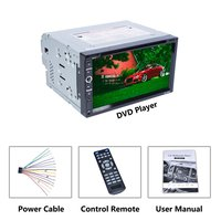 Universal DC12V Full HD1080P 6.95 inch 2DIN Car Multimedia CD DVD Player Steering Wheel Control FM Radio Bluetooth RK 6680