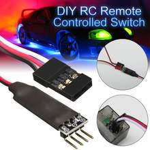 LED Light Lamp Control Switch Two Channels Remote Control Switch System Receiver Cord For RC Car Truck Vehicle Toy Part Access(China)