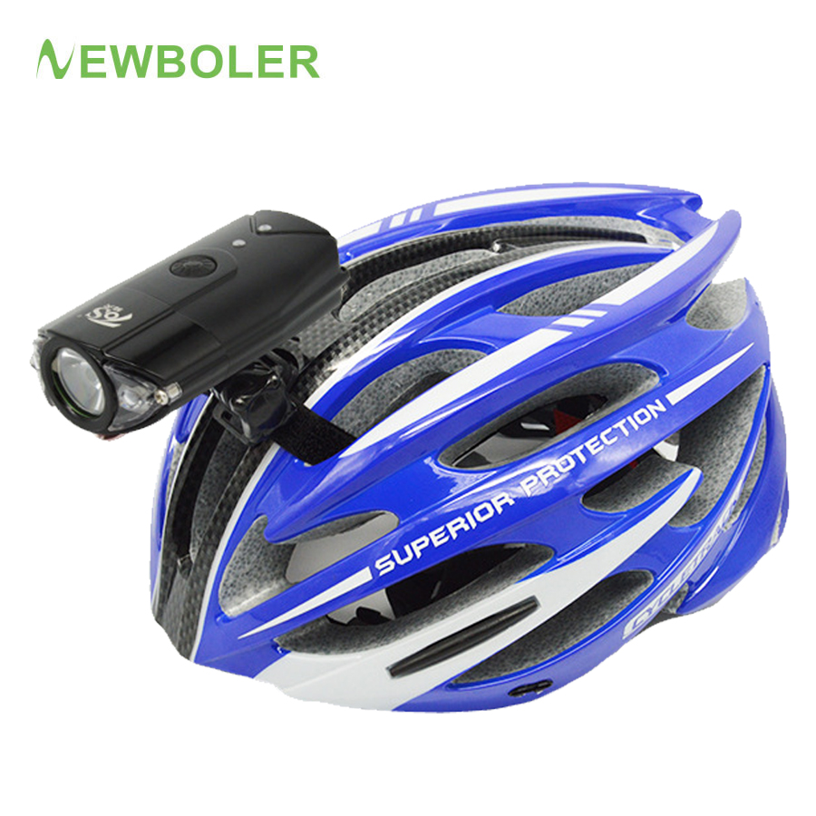 NEWBOLER 1200 Lumen Bicycle Flashlight For Helmet Bike LED Light Headlight USB Rechargeable Bike Front Lamp MTB Cycling Lantern