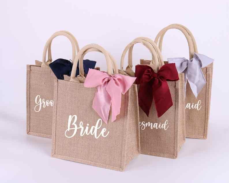Personnalisé Demoiselle D/'Honneur Sac Toile Sac à Bride Sac Cadeau Toile Fleur Fille Cadeau