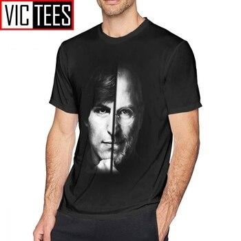 Męskie Steve Jobs koszulki z krótkim rękawem Steve Jobs T-Shirt człowiek koszulka z nadrukiem śmieszne bawełniana, w stylu Basic Plus rozmiar T Shirt