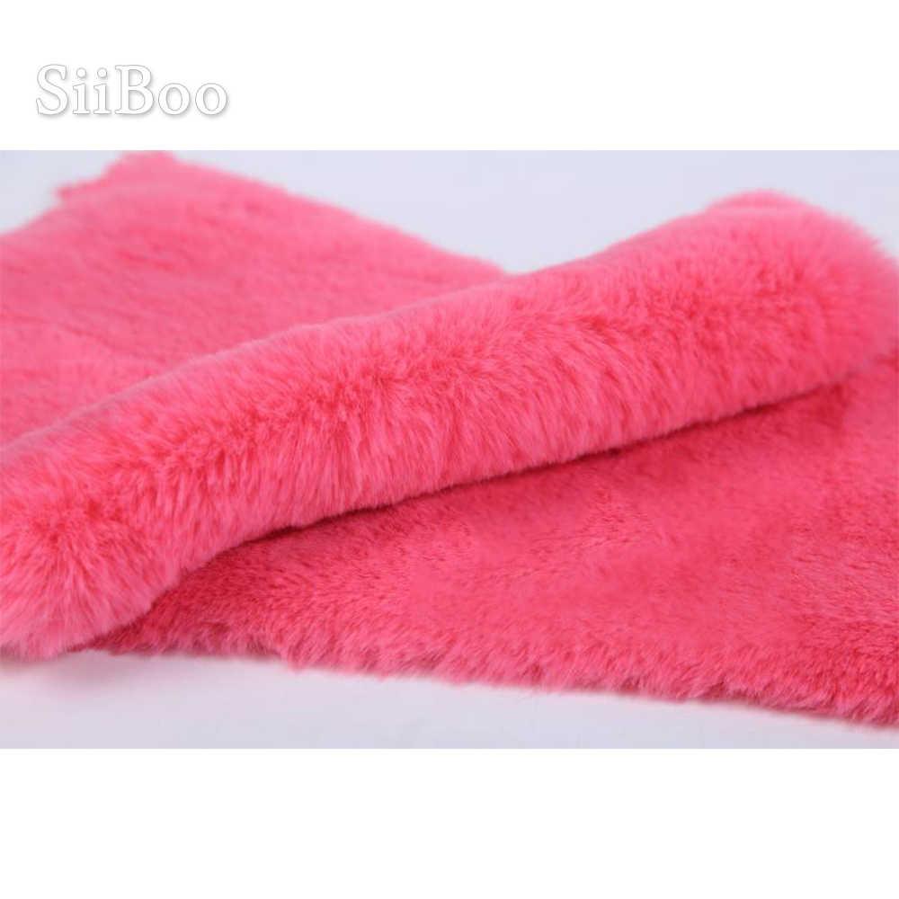 Super spessore 2 centimetri imitazione coniglio di peluche della pelliccia del faux tessuto per il cappotto sciarpa fotografia pelliccia tissu fourrure SP6081