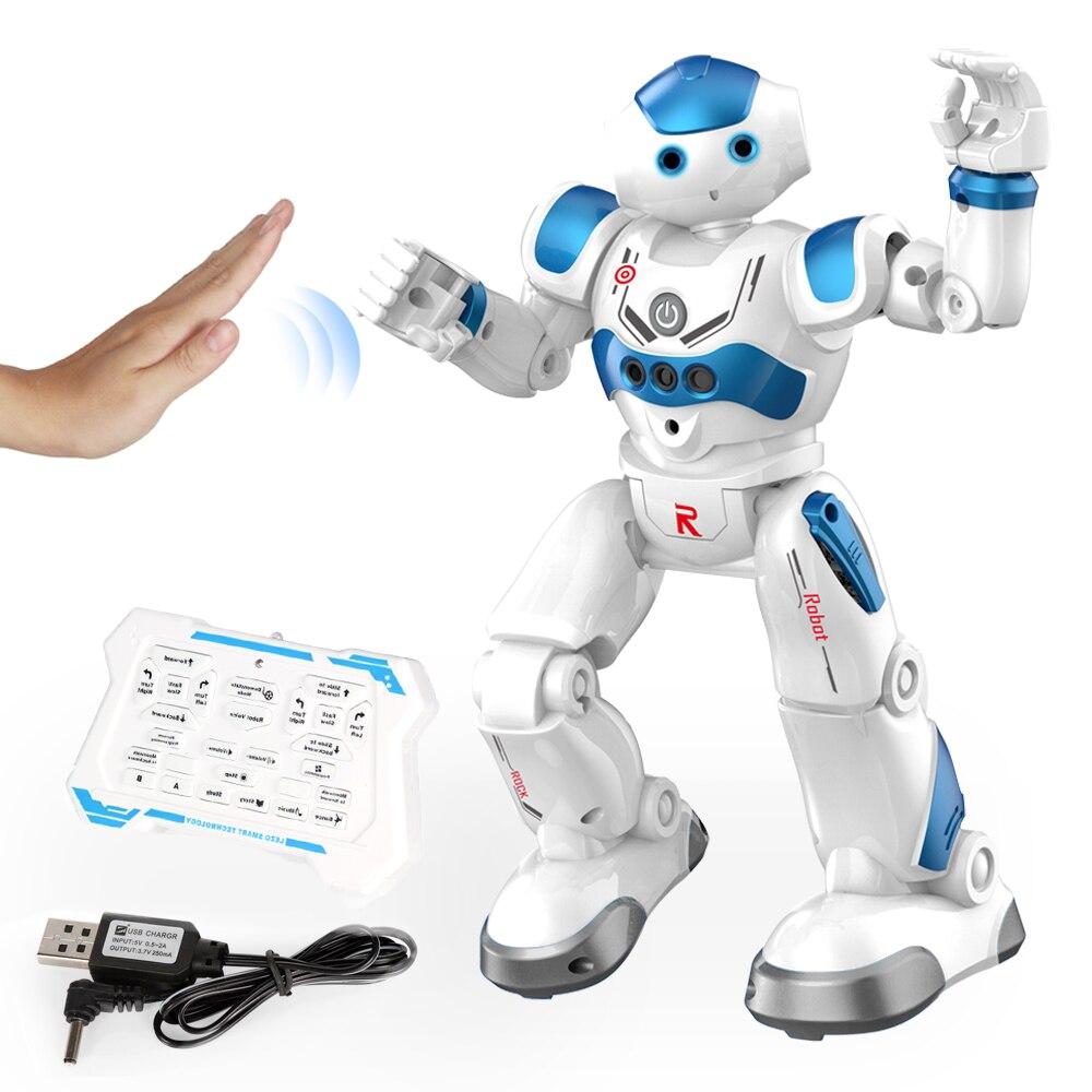 Интеллектуальный робот-головоломка с дистанционным управлением для раннего обучения, детская игрушка для мальчиков, индукционный жест с USB-зарядкой 4