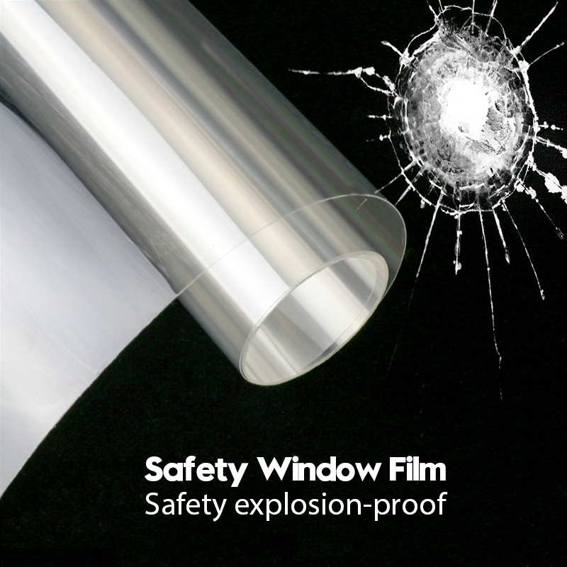 Membrane Window-Film 12mil-Safety Glass Glass-Protection Clear Explosion-Proof for Anti-Resist