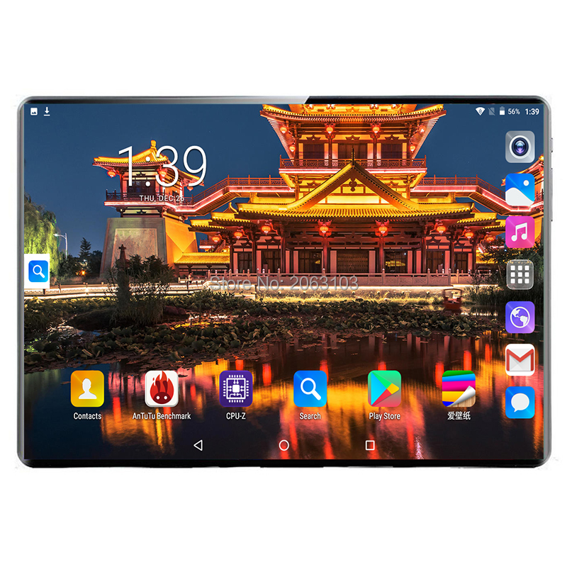 10 Inch Tablet Support Google Play 3G/4G Phone Call Deca Core 8GB+128GB Wi-Fi Bluetooth 4.0 Super Android 9.0 Tablet PC