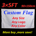 Custom Flag Printing 3x5 FT Flying Banner 100D Polyester Decor Advertising Sports Decoration Car Company Logo ,Free Shipping