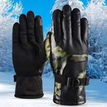 все цены на Winter Outdoor Windproof Motorcycle Cycling Gloves Practical Full Finger Touch Screen Gloves Anti-slip Thick Warm Sports Gloves
