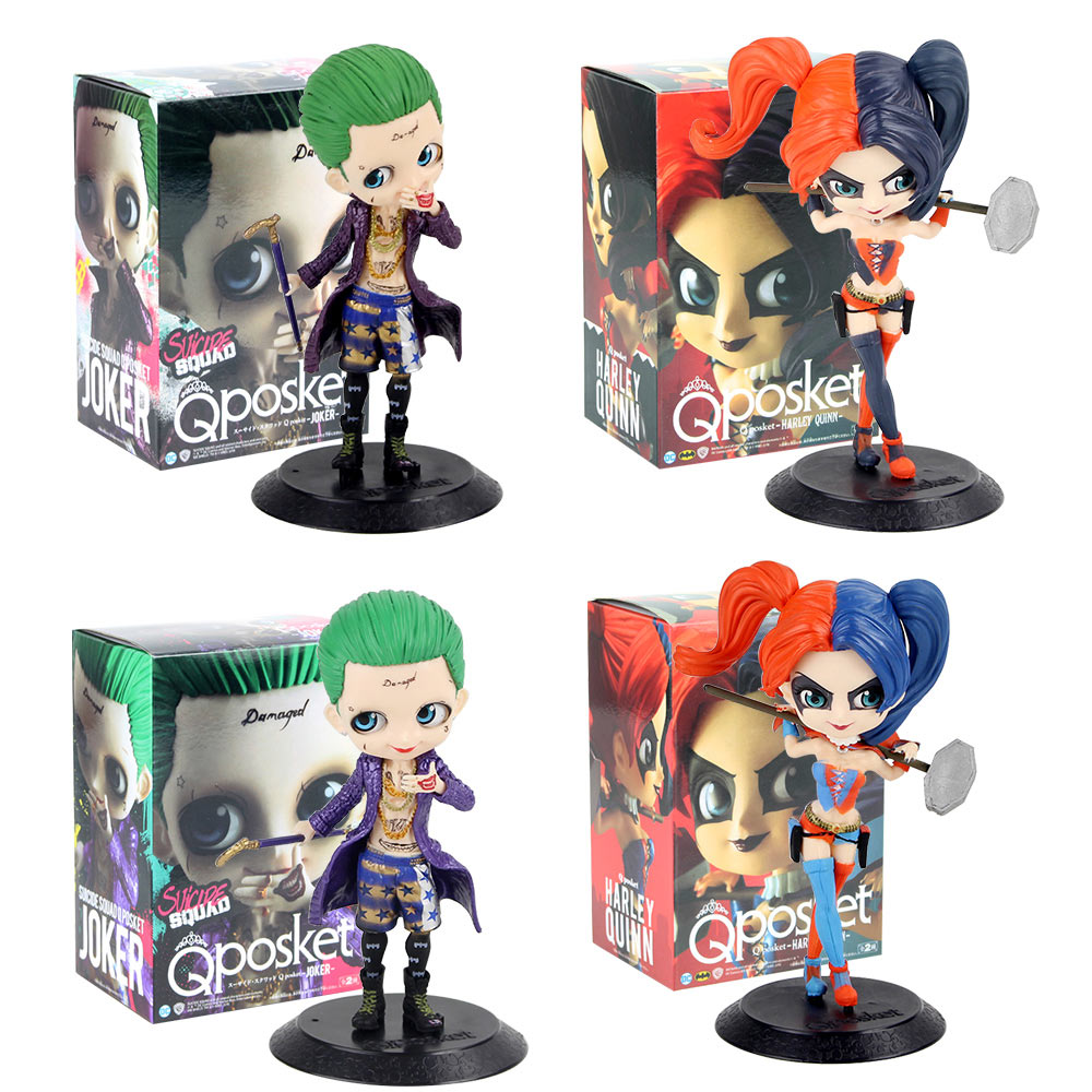 Q Posket Figures Toy Joker Harley Quinn With Hammer Suicide Squad Model Dolls Gift For Kids Aliexpress Com Imall Com