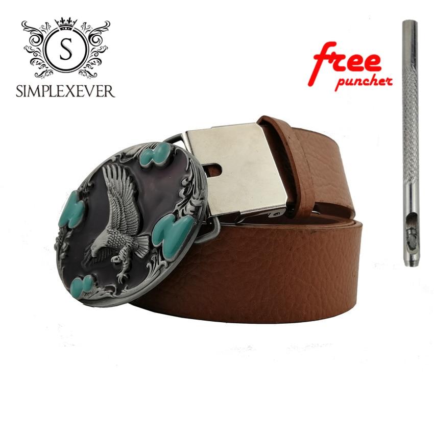 Metal Cool Belt Buckles For Man Unisex Western Fashion Buckle Cowboys Cowgirls Eagle Silver Belt Buckle Luxury Hebill
