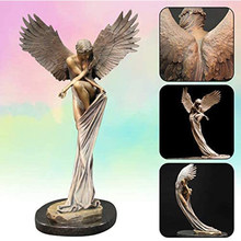 Angel Figures Statue Redemption Angel Sculpture Resin Ornaments for Home Office Church Decoration