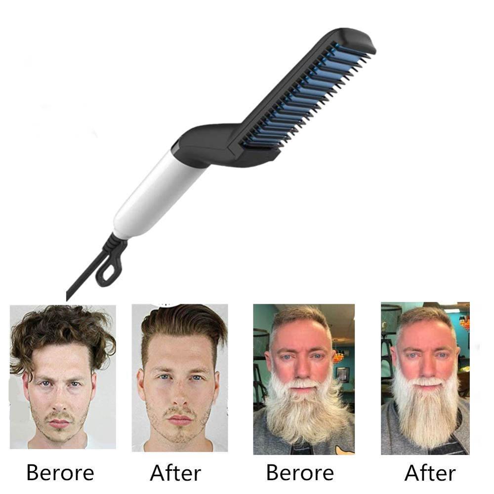 Dropshing Men Quick Beard Straightener Styler Comb Multifunctional Hair Curling Curler Show Cap Tool Styling Accessories