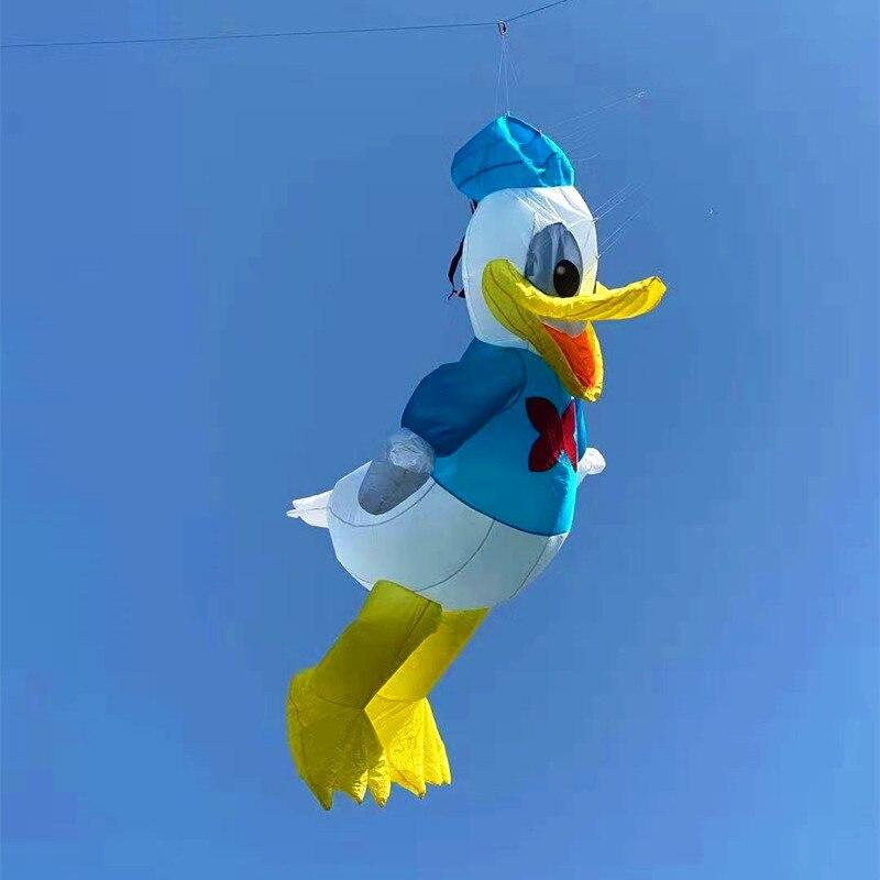 Livraison gratuite 3D donald grand doux cerf-volant mouche nylon cerf-volant chaussette à vent weifang grand cerf-volant bobine albatros jouets de plein air pour adultes pieuvre