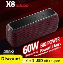 XDOBO X8 Altoparlante Bluetooth portatile ad alta potenza da 60 W Colonna per bassi profondi senza fili Potente Boombox Soundbar Sistema Music Center TWS Subwoofer stereo per computer Assistente vocale