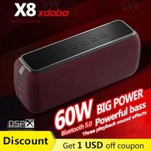 XDOBO X8 60W Przenośny głośnik Bluetooth o dużej mocy Bezprzewodowa kolumna z głębokim basem Potężny głośnik Boombox Soundbar System muzyczny TWS Subwoofer stereo do komputerowego asystenta głosowego