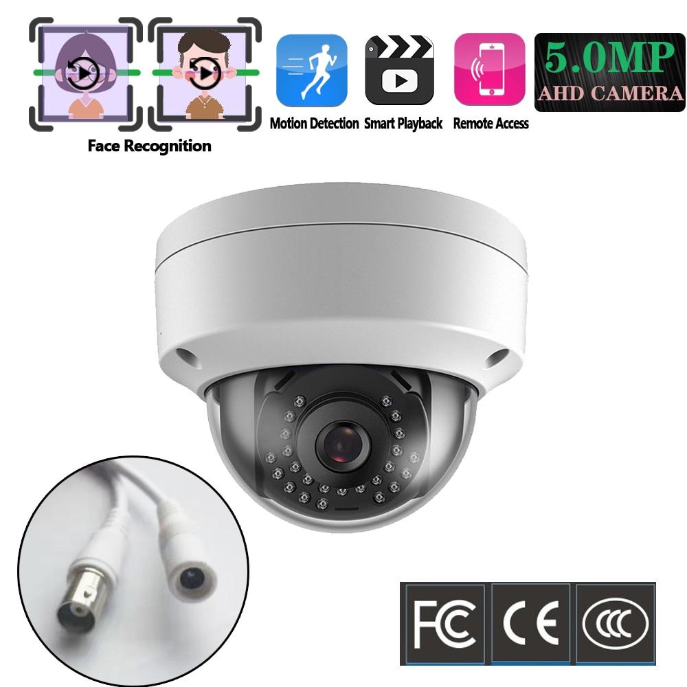 H.265 Surveillance CCTV Camera 5MP AHD Camera Motion&Face Detection IR Cut Night Vision Vandal-proof Dome BNC Security Camera