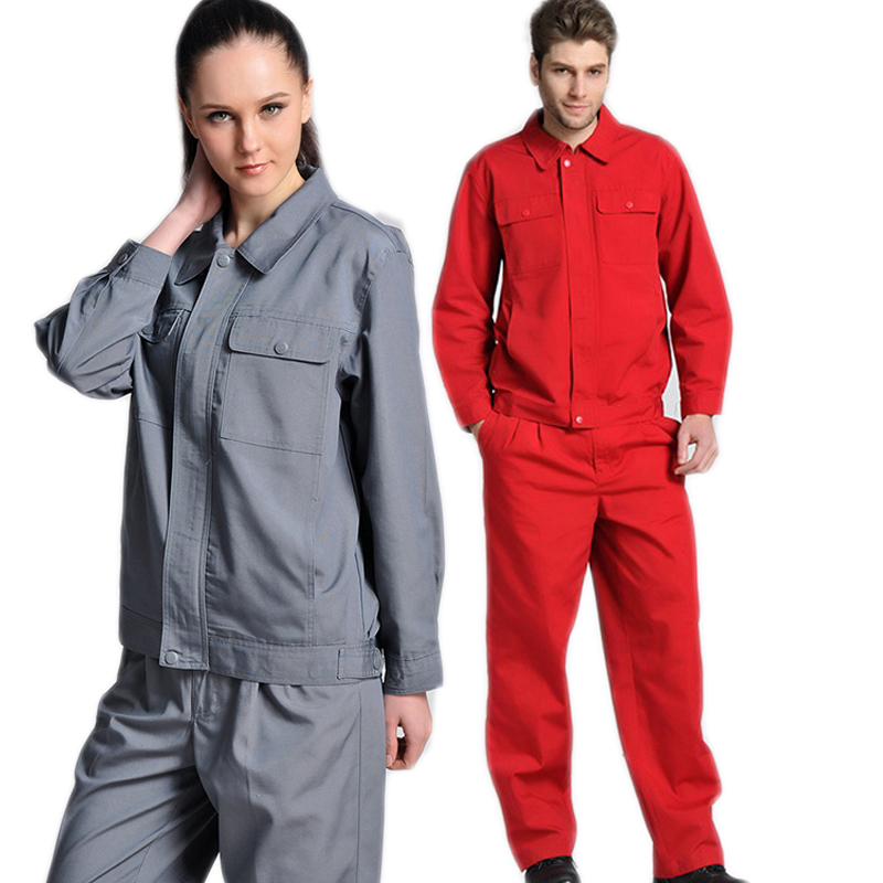 Spring Autumn Work Clothes Set Welding Suit Labor Coverall Mechanical Workshop Auto Repair Tear-resistant Wear-resistant Uniform