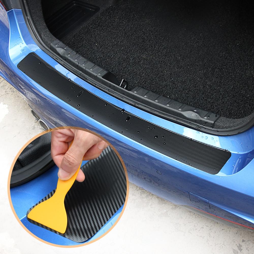 1 шт. 90*8,8 см Защитная Наклейка на задний бампер из углеродного волокна для VW Volkswagen Golf 7 MK7 MK6 MK5 POLO jetta tiguan аксессуары