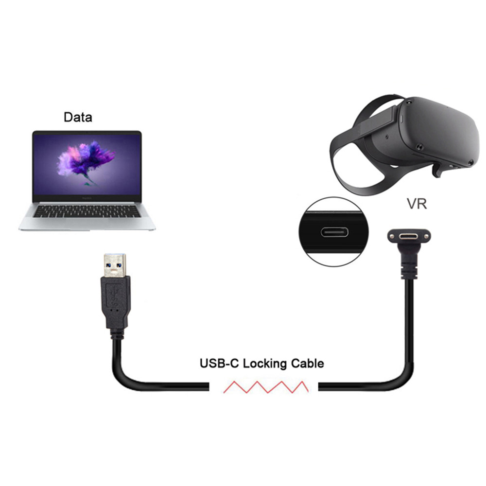 1/3/5/8M USB Type C Data Transfer Fast Charge Cable For Oculus Quest Link Support For Steam VR Quest Type-C To 3.1 Data Cable