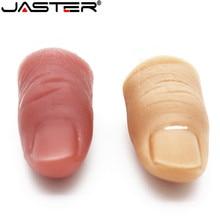JASTER מגניב אצבע עט מדומה כונן usb דיסק און קי pendrive 4 gb 8 gb 16 gb 32 gb 64 gb CARTOON זיכרון מקל מיני U דיסק מתנה