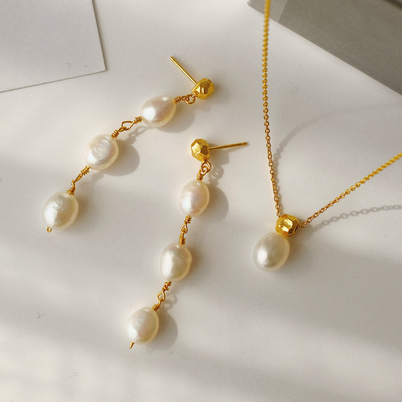 Timeless Wonder Glam Baroque Pearl Chains Choker Necklace Women Jewelry Sweet Gothic Designer Top Ins Prom Japan Gift Set <font><b>1342</b></font> image