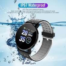 119plus bluetooth Смарт часы мужской фитнес трекер Браслет монитор
